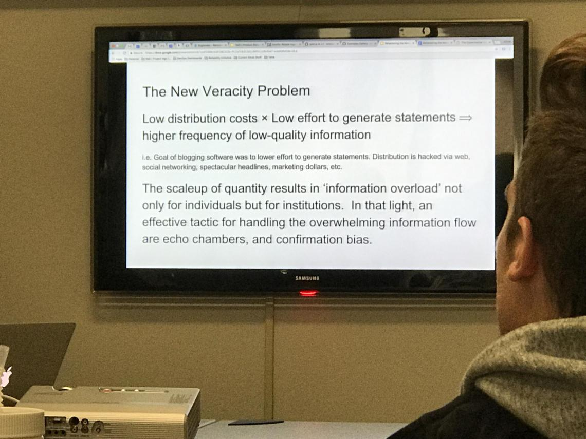 CITS discusses the Veracity Problem